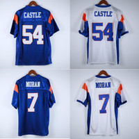 Wholesale bms for sale - Group buy 7 Alex Moran Thad Castle Blue Mountain State BMS TV Show Mountain Goats Football Jersey Double Stitched Name and Number Fast Shipping