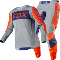 Wholesale mx gear for sale - Group buy NAUGHTY MX ATV Racing Linc Jersey Pant Combo Grey Orange MX ATV Motocross Gear Set