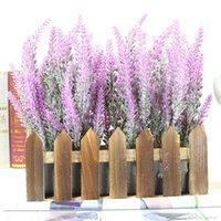 ingrosso aquatic plant-2019 Romantic Provence decorazione lavanda fiore seta fiori artificiali grano decorativo Simulazione di piante acquatiche