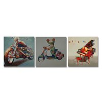 Wholesale paintings ready hang resale online - DYC Animals Print Art Ready to Hang Paintings