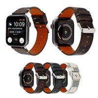 наручные часы кожа оптовых-Горячий Дизайнер Кожаный Ремешок Для Iwatch 38 мм 22 мм 42 мм 24 мм Размер Группы браслет для Apple Watch Watch Band 13 Стиль