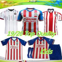 3e22111888e 2019 Chivas de Guadalajara soccer jersey thai quality A.PULIDO home away  world cup O.PINEDA E.LOPEZ I.BRIZUELA Kids Football shirt