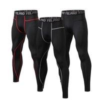 pantalon deportivo de futbol al por mayor-Hombres compresión Correr Medias Pantalones de jogging Baloncesto Fútbol Fútbol pantalón de aprendizaje para deportes gym Joggers ciclismo Pantalones Leggings