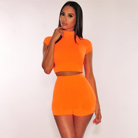 Wholesale female sexy sports clothes for sale - Group buy Fashion Designer Sexy Women Sweet Colors Shorts Skinny Suits Summer Sport Casual Suits Casual Clothing Fashion Female