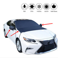 Wholesale mirror protection covers resale online - Waterproof Car Cover Auto Windshield Sun shading Front Window Rearview Mirror Snow Shade Cover Sunshade Cloth Exterior Accessories QP003