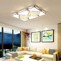 Wholesale nickel paint resale online - LED ceiling lamp acrylic super bright atmospheric living room lamp modern minimalist rectangular bedroom crystal ceiling lamp