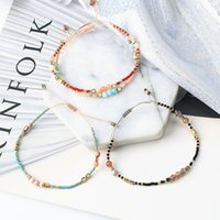 kızlar için mücevher bilezikleri toptan satış-Doğal Taş Charm Gem Boncuklu Bilezik Ayarlanabilir Benzersiz Strand Bilezikler El Yapımı Takı Kızlar Kadınlar Dostluk Hediye