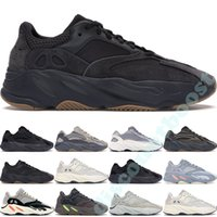Wholesale runner shoes resale online - 700 V2 Utility Black Kanye West Mens Women Running Shoes Geode Static Mauve OG Runner Wave Solid Grey Inertia Vanta Sports Sneakers