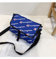 Wholesale waterproof tablet bags resale online - Unisex Champions Letter Messenger Bag with Retail Tag Belt Waist Fanny Packs School Laptop Tablet Bags Waterproof Beach Sports Totes C491