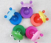 Wholesale zoo animal baby toys for sale - Children s Animal Zoo Musical Percussion new frog Pig tiger Instrument Wooden Colorful Castanet Baby Educational Toys D0219