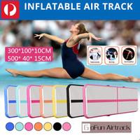 электрический воздушный насос надувной оптовых-Надувная гимнастика акробатика батут AirTrack воздушной трассе пол электрический воздушный насос для домашнего использования/обучение/черлидинг/пляж
