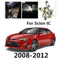 JGAUT For Scion tC 2008-2012 8pcs White Red Blue Car LED Light Bulbs Interior Package Kit Dome Lights License plate light Map