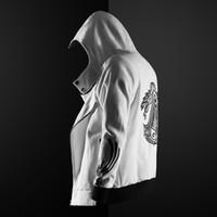 hoodie magro do credo do assassino venda por atacado-ZOGAA Homens Moletom Com Capuz Camisola de Manga Comprida Slim Fit Masculino Zipper Hip Hop Hoodies Assassino Mestre Cardigan Creed Jaqueta Plus Size