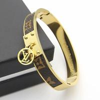 china jewelry crystal bracelets venda por atacado-2019 Moda Popular Europeu e Americano Jóias Marca Designer de Tom de Aço Inoxidável Pulseira Pave Brilhante Pulseira De Cristal