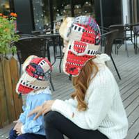 Wholesale crochet flap hat resale online - Toddler Kids Girl hat Colorful Ear Flap cap Warm Winter Russian Hat Ladies Ear Protect Trooper hat LJJK1777