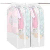шкаф для одежды оптовых-Сумки Шкаф для хранения Прозрачный одежды костюм Обложка чехол пылезащитные чехлы