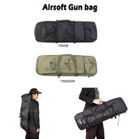 Wholesale external backpack frames for sale - Group buy Outdoor Military Hunting Tactical Shotgun Rifle Square Carry Bag Protection Case Backpack Colors Black Dark Green for Optio