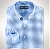 мужские рубашки поло оптовых-Новая Мода Маленькая Лошадь Оксфорд Мужские Рубашки С Длинным Рукавом Мужские Рубашки Платья Высокого Качества Мужские Деловые Рубашки поло Сорочка Homme 7043-1