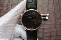 transparente handuhr mann großhandel-J006030270 große gebrauchte serie, 43 mm durchmesser, 2663a.p automatisches mechanisches werk, lederarmband, transparent, herrenuhr,