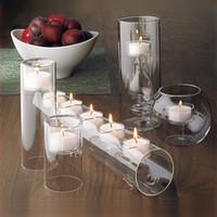 Wholesale modern feng shui for sale - Group buy 5pcs Set Modern Glass Candle Holder Crystal Candlesticks for Wedding Dinner Decoration Feng Shui Wedding TeaLight Candelabras