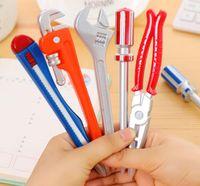 hochwertige hardware-tools großhandel-Simulation Hardware Tools Schraubstock Handmesser Hammer Kreative Kugelschreiber Qualität Stift Büro Schulbedarf GB20