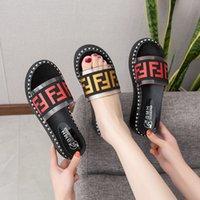trendige sandalen für frauen großhandel-Markendesigner Frauen Sandalen Hausschuhe Fends Dicke Plattform Rutschen Luxus Sommer Schuhe Strand Sandale Slipper Casual Trendy Schuhe B81501