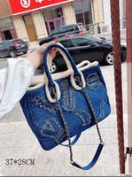 Wholesale fine linens resale online - Fashion Bags Super hot fashion High version Fine workmanship Imported hardware Wrapped denim size CM