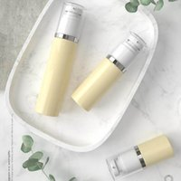 makeup airless pumpenbehälter großhandel-30 ml 50 ml 80 ml PET Kunststoff Gehobenen Leeren Vakuumpumpe Flasche Airless Dispenser Glas Container Für Lotion Make-Up Kosmetische Creme