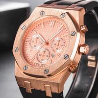 reloj de acero inoxidable aaa al por mayor-Venta al por mayor 2019 más nuevo AAA clase de acero inoxidable reloj de cuarzo segundo reloj de lujo relojes mejor regalo reloj de hombre relojes mejor regalo