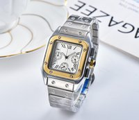 господа часы оптовых-2019 3A новые мужские часы мужские роскошные часы женские модные часы точность сталь квадратный циферблат женские часы Relogio Montre мужские