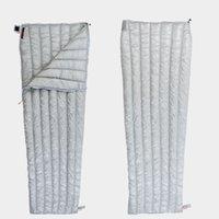 mochilas blancas al por mayor-Tipo de sobre ultraligero Blanco Abajo Camping Senderismo Saco de dormir al aire libre saco de dormir cálido otoño primavera noche mochila
