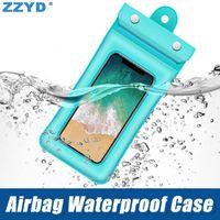 ingrosso airbag universali-ZZYD Airbag Custodia impermeabile in PVC Custodia universale protettiva per telefono Custodia estiva con nuoto subacqueo per Samsung S9 iPhone 6 7 8 X