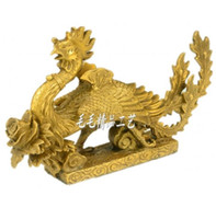 освещение феникса оптовых-Медь медь бронза Феникс украшения свет Хань Фэн Чэнсян дракон благоприятный животных ремесло свадебный подарок