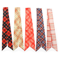 Wholesale twilly scarves for sale - Group buy Head Scarf Twilly Silk Small Ribbons Neckerchief Long Woman Ladies Tie Print cm cm Slender Narrow Ribbon