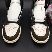 en iyi spor ayakkabıları toptan satış-Travis Scott X Hava 1 Yüksek OG CD4487-100 1 s Ben Kicks Erkekler Basketbol Spor Ayakkabı Sneakers Orijinal Kutusu Ile En Kaliteli Eğitmenler