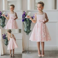 Wholesale princess first communion dresses resale online - Flower Girl Dresses For Weddings Luxury Kids Evening Pageant Ball Gowns First Communion Dresses For Girls Vestidos