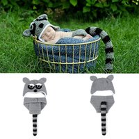 Wholesale baby diapers crochet animal for sale - Group buy Baby Boys Photo Prop Knitted Newborn Hat Diaper Set for Infant Animal Costume Photography Outfits