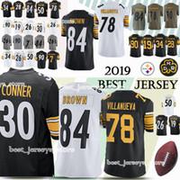 642a75db6 Pittsburgh 33 Steeler jerseys 19 Juju Smith-Schuster 84 Antonio Brown 78  Alejandro Villanue 90 T.J. Watt jersey 2019 High-quality