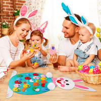 Wholesale diy toys online - Match Easter Numbers Toddler Toys Wall Hanging Number Recognition Game Learning Toy DIY Easter Decorations Education Toys CCA11219