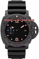 relógio automático de 47mm venda por atacado-8 Estilo Topselling Melhor Qualidade Melhor Fabricante CAL.P9000 P9001 Movimento 44mm 47mm De Fibra De Carbono Bronze Transparente Automático Mens Watch Relógios