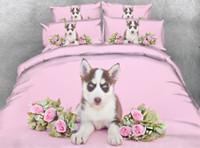 Wholesale flower floral bedding set 3d resale online - Husky Bedding Twin Pink Floral Duvet Cover King Flower Bedspreads Full Size Bed pc NO Comforter Pillowshams
