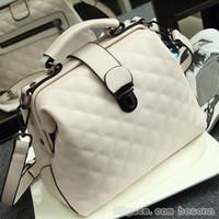 Wholesale womens branded bags resale online - Brand Designer Womens Top Handle Handbags Doctor Style Genuine Leather Shoulder Bags Luxury Crossbody Bags Evening Party Bag