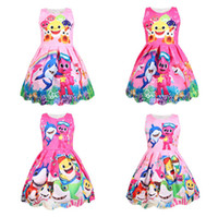 Wholesale cosplay lolita clothing for sale - DoDo Baby Girls Summer Dress Baby Shark Cartoon Sleeveless Dresses Cosplay Princess Tutu Skirt Little Girls Party Dress Clothes A3131