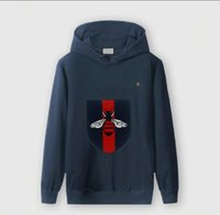 sporcu sıcak spor terlik toptan satış-Marka erkek guccys kazak moda lüks sıcak kazak yeni sıcak satış açık spor adam hoodies pamuk yüksek kaliteli eğlence hoodie