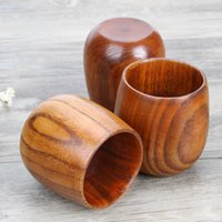 Wholesale wooden clamps for sale - Group buy Small Wooden Wine Cup Primitive Handmade Natural Jujube Wood High Quality Wooden Mug Breakfast Beer Milk Drinkware