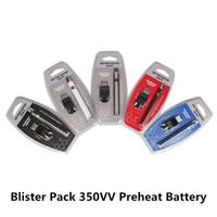 ego büküm pil takımı toptan satış-Blister Paketi 350VV Ön Isıtma Pil 350 mAh Alt Büküm Kartuş Kiti Vape Kalem Değişken Gerilim USB Şarj ile Ego Spinner Pil