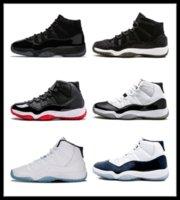 neue hoch geschnittene schuhe großhandel-NIKE Air Jordan 11 Retro 2018 neue 11 hochwertige gezüchtete Basketballschuhe Männer Frauen High Cut Günstige Online 11S XI Heißer Verkauf Sportschuhe