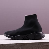 custom sock venda por atacado-personalizado de luxo Designer Women Shoes Mens Sock Speed ​​Trainer Sneakers Knitting Deslizamento-na alta qualidade Casual Sports Shoe Comfort Chaussures