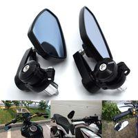 rétroviseurs rouges achat en gros de-Pour 3 couleurs noir bleu rouge universel scooter installer guidon rétroviseur latéral moto guidon rétroviseur moto