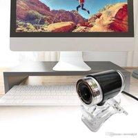 ingrosso camme web usb-Nero USB HD Webcam Web Cam Camera CMOS 360 gradi per PC Laptop Desktop